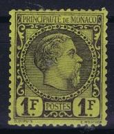 Monaco:  Yv 9  Mi 9  MH/* Flz/ Charniere - Monaco