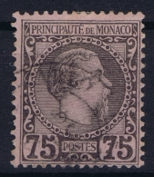 Monaco:  Yv 8  Mi 8   Obl./Gestempelt/used  Signed/ Signé/signiert/ Approvato Brun - Monaco