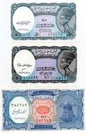 EGITTO-LOTTO 3 BANCONOTE-UNC - Egitto