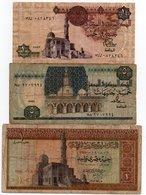 EGITTO-LOTTO 3 BANCONOTE - Egypte