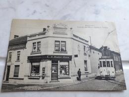 Ransart  Coin Des Rues Masses-Diarbois,tram, Animée,en 1925 - Belgium