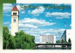Riverfront Park With Clocktower & Opers House, Spokane, Washington, USA Unused - Spokane