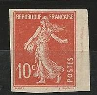 SEMEUSE TYPE 1A N° 138  NEUF* TRACE DE CHARNIERE Signé CALVES - France