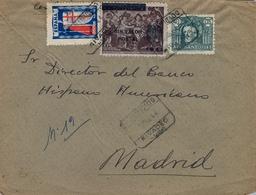 1944 , LUGO , INTERESANTE SOBRE CERTIFICADO CIRCULADO ENTRE RIBADEO Y MADRID , LLEGADA - 1931-Hoy: 2ª República - ... Juan Carlos I