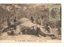 Belgisch Congo Belge  Entier Vue 53 Chasse à L'Eléphant CP 5c + TP Mols 5c C.Lisala 6/1/1919 Non Voyagée PR5227 - Entiers Postaux