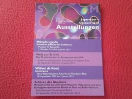 TARJETA TIPO POSTAL POST CARD POSTCARD CARTE POSTALE PUBLICIDAD PUBLICITARIA BERLIN GERMANY MUSEO MUSEUM AUSSTELLUNGEN - Museos