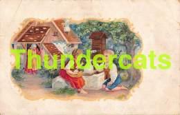 CPA LITHO HANSEL UND GRETEL HANS & GRIETJE CHOCOLATERIE DERBAIX FRERES ( PLIS - CREASES ! ) - Contes, Fables & Légendes