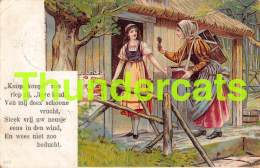 CPA LITHO FILLE HANSEL GRETEL HANS GRIETJE LITHO CARD GIRL - Contes, Fables & Légendes