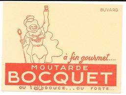 """Buvard Ancien MOUTARDE BOCQUET - VARIANTE Au Bas Du Buvard """" OU DOUCE....OU FORTE ....."""" - Mostard"""