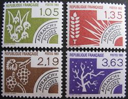 DF/1003 - 1983 - TIMBRES PRE-OBLITERES - LES QUATRE SAISONS - (SERIE COMPLETE) - N°178 à 181 NEUFS** - 1964-1988