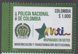 COLOMBIA, 2017, MNH,POLICE, NATIONAL POLICE OF COLOMBIA, 1v - Police - Gendarmerie
