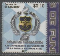 EL SALVADOR ,2017, MNH, 25th  ANNIVERSARY OF NATIONAL CIVIL POLICE FORCE, POLICE, 1v - Police - Gendarmerie