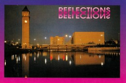 Reflections With Great Northern Clock Tower And Opera House, Spokane, Washington, USA Unused - Spokane