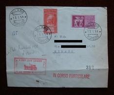 1958 FDC Viaggiata: 75 £ Espresso + 10 £ Posta Pneumatica Su Busta Normale, Affrancata Al Retro - 6. 1946-.. Repubblica