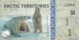 ARCTIC TERRITORIES 1 1/2 POLAR DOLLARS 2014 UNC - Banknotes
