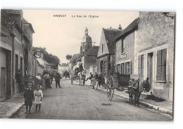 CPA 89 Vinneuf Rue De L'église - Other Municipalities