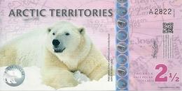 ARCTIC TERRITORIES 2 1/2 POLAR DOLLARS 2013 UNC - Banknotes
