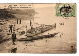 Belgisch Congo Belge Entier Vue 41 Pirogues Uele CP 5c + TP Mols 5c C.Lisala 6/1/1919 Non Voyagée PR5234 - Entiers Postaux