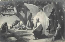 """- Thèmes -ref-A699- Arts - Peintures & Tableaux - Salon 1908 - Peintre Pierrey - """" Jesus Au Jardin Des Oliviers """" - - Peintures & Tableaux"""