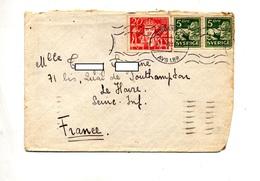 Lettre Flamme Muette Stocholm Sur Lion  Timbre Oté ?? - 1930- ... Rouleaux II