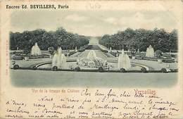 - Thèmes -ref-A689-  Publicite Encres Devillers - Paris - Versailles - Grandes Eaux - Exposition Universelle 1900 - - Publicité