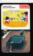 Fiche Disney Humour Sport Ping-Pong Tennis De Table / IM 01/D36 - Old Paper