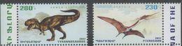 ARMENIA, 2017, MNH, DINOSAURS, PREHISTORIC FAUNA, TYRANNOSAURUS REX, PTEROSAURUS, 2v - Stamps