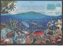 PITCAIRN ISLAND ,2017, MNH, MARINE LIFE, FISH, SHARKS, CORALS, TURTLES, EELS,  SHEETLET - Fishes