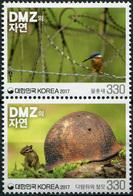 Korea South. 2017. Nature In DMZ (2nd) (MNH OG **) Block Of 2 Stamps - Corée Du Sud