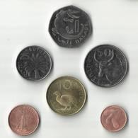 Gambia - Set 6 Coins 1 5 10 25 50 Bututs + 1 Dalasi 1998 - 2014 UNC - Gambie