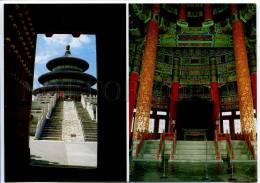 272302 CHINA PEKING Beijing Sky Temple Russian Poster Card - China