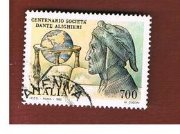 ITALIA REPUBBLICA  - SASS. 1938    -      1990 SOCIETA' DANTE ALIGHIERI   -      USATO - 6. 1946-.. Repubblica