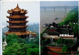 272312 CHINA Wuhan Pagoda Huanghe Luo Russian Poster Card - China