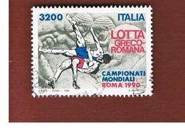 ITALIA REPUBBLICA  - SASS. 1944    -      1990 LOTTA GRECO - ROMANA   -      USATO - 6. 1946-.. Repubblica