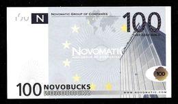"ATM Test Note ""NOVOMATIC"" Testnote, 100 EURO, Beids. Druck, RRRRR, Euro Size, UNC - EURO"