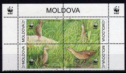 Moldova Moldavia 2001 MNH WWF FAUNA VOGELS BIRDS VÖGEL AVES OISEAUX - Moldavia