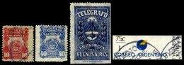 ARGENTINA, Telegraphs, */o M/U, F/VF - Telegraph
