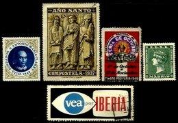 SPAIN, Cinderellas, */o M/U, F/VF - Spanien
