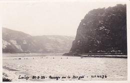 Carte Photo ,allemagne,rhénanie -palatinat,LORELEY,LORELE I,en 1929,rocher De 132m Au Dessus Du Rhin Gelé,rare - Loreley