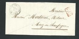 Lac EN PORT PAYE ( PP Rouge ) De Sillé Le Guillaume ( Sarthe ) En 1846 Pour Rouez En Champagne    Ax14204 - Marcophilie (Lettres)