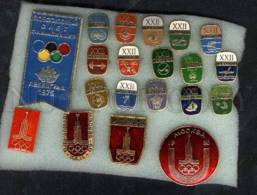 000068 Olympiad 80 In Moscow Set Of 20 Russian Pins - Badges
