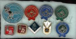 000072 WRESTLING Set Of 9 Russian Pins & Badges - Wrestling
