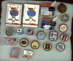 000077 ICE HOCKEY Set Of 20 Different Pins #77 - Badges
