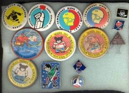 000088 ICE HOCKEY Set Of 14 Different Pins #88 - Badges