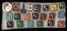 000115 Olympiad 80 In Moscow Set Of 21 Russian Pins - Badges