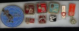 000126 WRESTLING Set 9 Russian Different Pins #126 - Wrestling