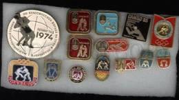 000127 WRESTLING Set 14 Russian Different Pins #127 - Wrestling