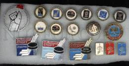 000146 ICE HOCKEY Set Of 18 Different Pins #146 - Badges