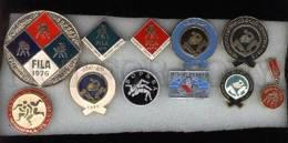 000151 WRESTLING Set 11 Russian Different Pins #151 - Wrestling