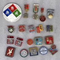 000153 WRESTLING Set 20 Russian Different Pins #153 - Wrestling